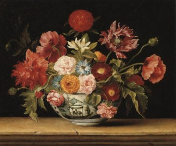 Chinese Bowl With Flowers | Jacques Linard | Oil Painting