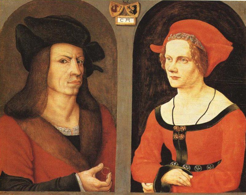 Portrait Of Coloman Helmschmidt And His Wife Agnes Breu | Jorg Breu The Elder And An Unknown Painter | Oil Painting