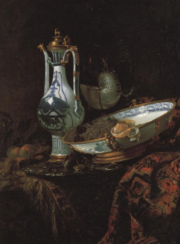 Still Life With A China Ewer Nautilus Cup And Other Objects   Willem Kalf   Oil Painting