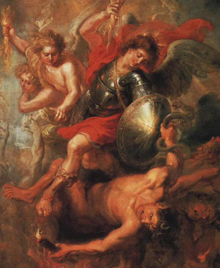 St Michael Expelling Lucifer And The Rebellious Angels From Heaven | Workship Of Rubens | Oil Painting