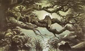 Asleep In The Moonlight 1870 | Richard Doyle | Oil Painting