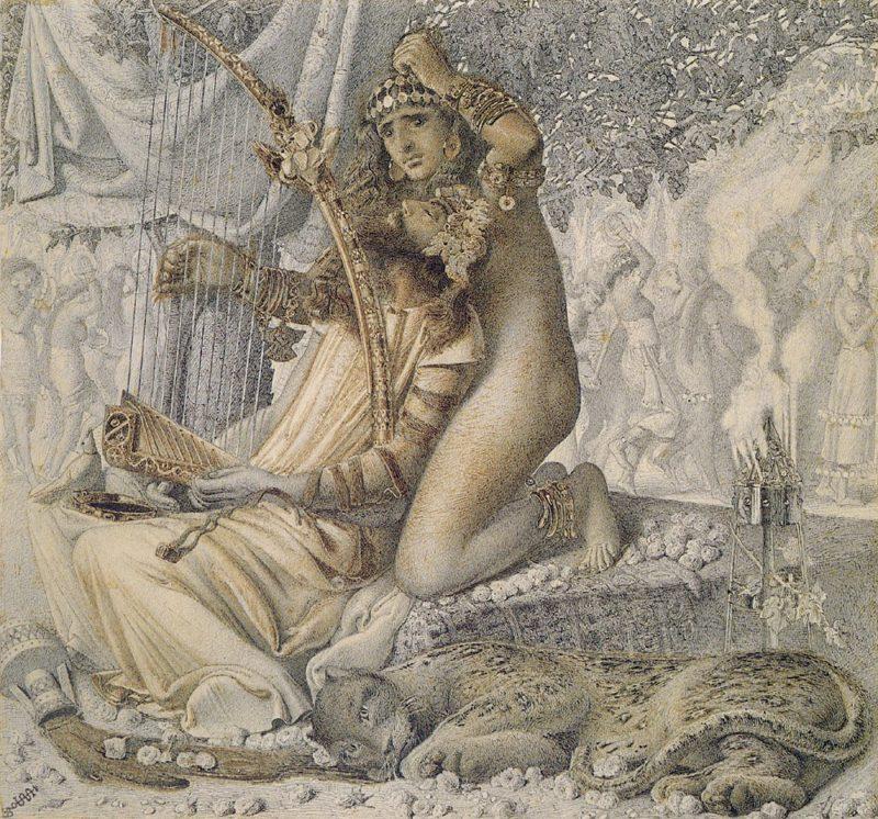 Babylon hath been a golden cup | Simeon Solomon | Oil Painting