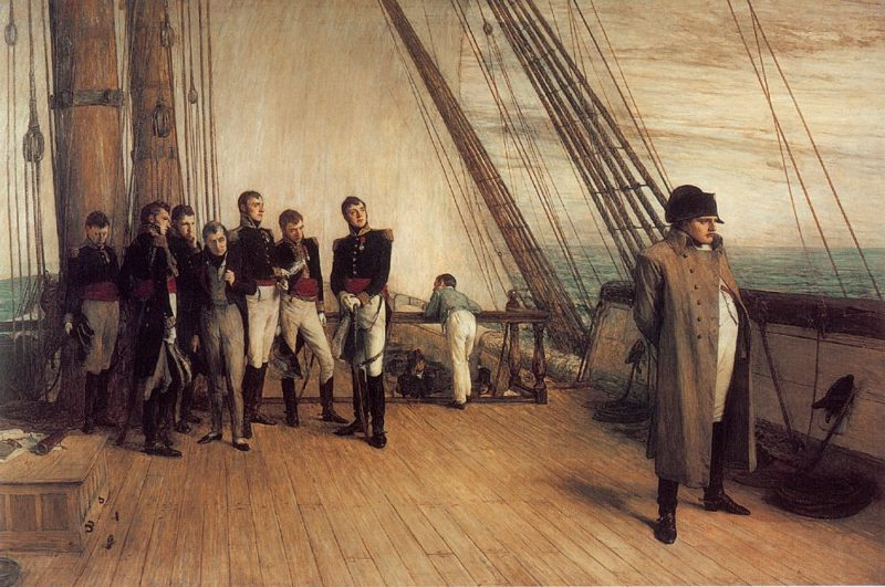 On Board HMS Bellerophon   Sir William Quiller Orchardson   Oil Painting