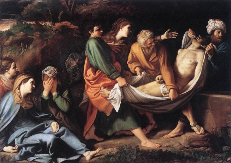 The Entombment Of Christ 1610 | Sisto Badalocchio | Oil Painting