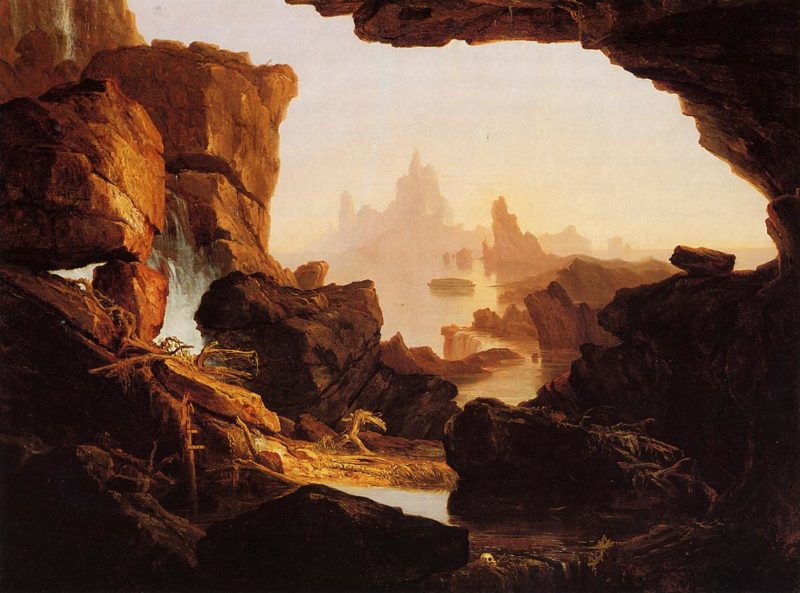 The Subsiding Waters of the Deluge 1829 | Thomas Cole | Oil Painting