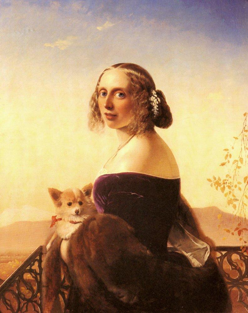 Portrait Of Lady Barrett Of Belhus | Timoleon Carl Von Neff | Oil Painting