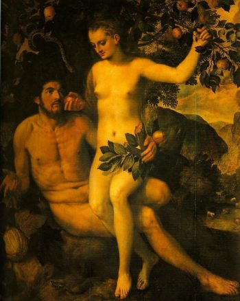 Adam and Eve | Frans Floris De Vriendt | Oil Painting