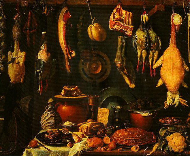 Still Life with Game   Jacopo Da Empoli   Oil Painting