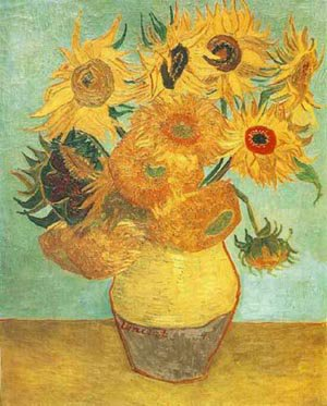 Still Life Vase With Twelve Sunflowers 1889 | Vincent Van Gogh | oil painting