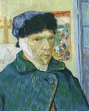 Self Portrait With Bandaged Ear 1889 | Vincent Van Gogh | oil painting