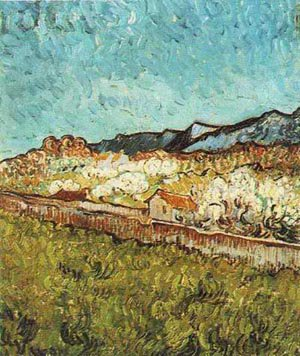 At The Foot Of The Mountains 1889 | Vincent Van Gogh | oil painting