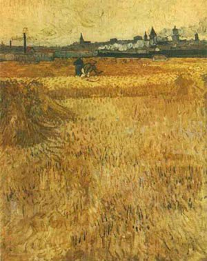 Arles View From The Wheat Fields 1888 | Vincent Van Gogh | oil painting