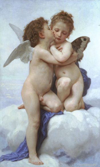 First Kiss | William Bouguereau | oil painting