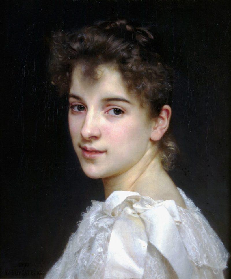 Gabrielle Cot 1890   William Bouguereau   oil painting