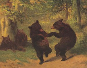 Dancing Bears | William Holbrook Beard | oil painting