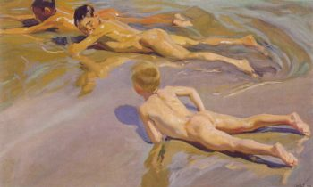 Children on the Beach ATC | Joaquin Y Bastida Sorolla | oil painting