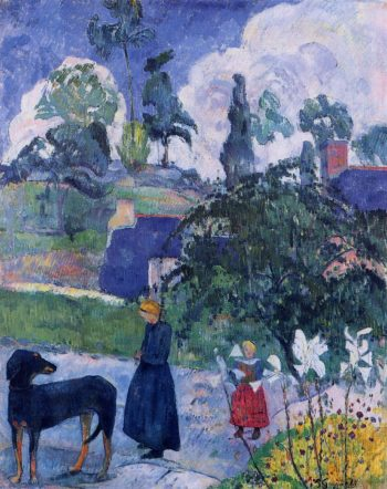Among the Lillies 1889 | Paul Gauguin | oil painting