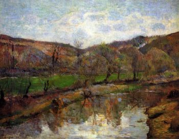 Aven Valley Upstream of Pont Aven 1888 | Paul Gauguin | oil painting