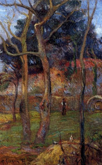 Bare Trees 1885 | Paul Gauguin | oil painting