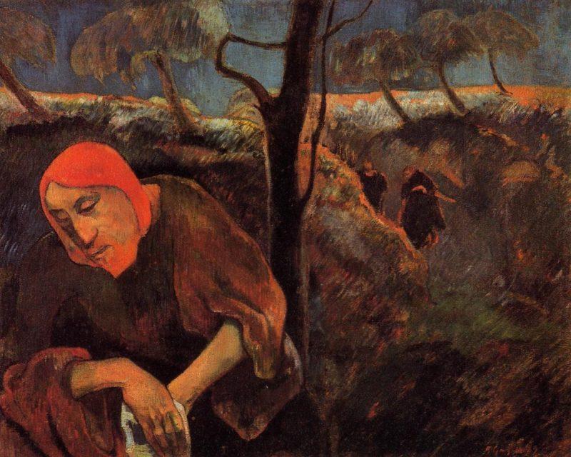 Christ in the Garden of Olives 1889 | Paul Gauguin | oil painting