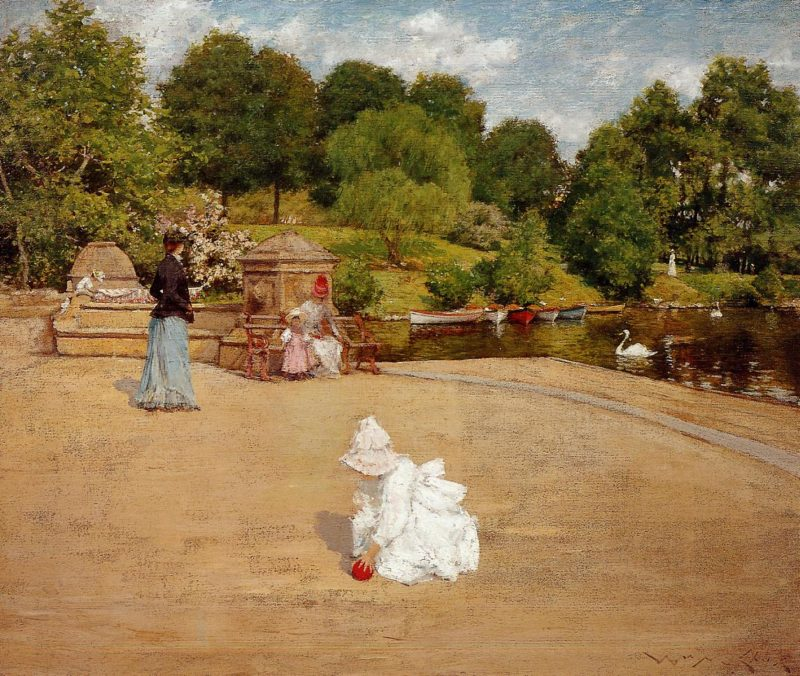 A Bit of the Terrace  1890 | William Merritt Chase | oil painting