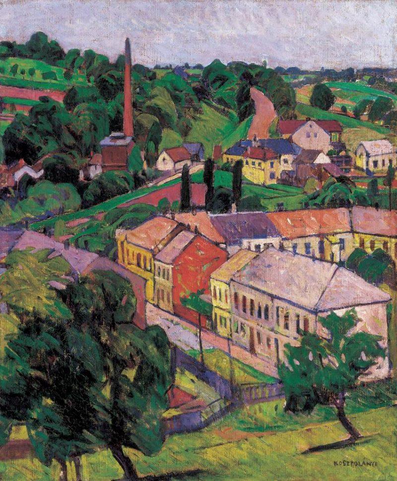 Village | Gyula Kann Kosztolanyi | oil painting