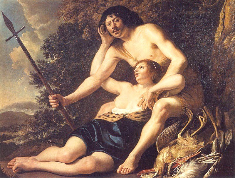 Venus and Adonis 1645 | Christiaen van Couwenbergh | oil painting
