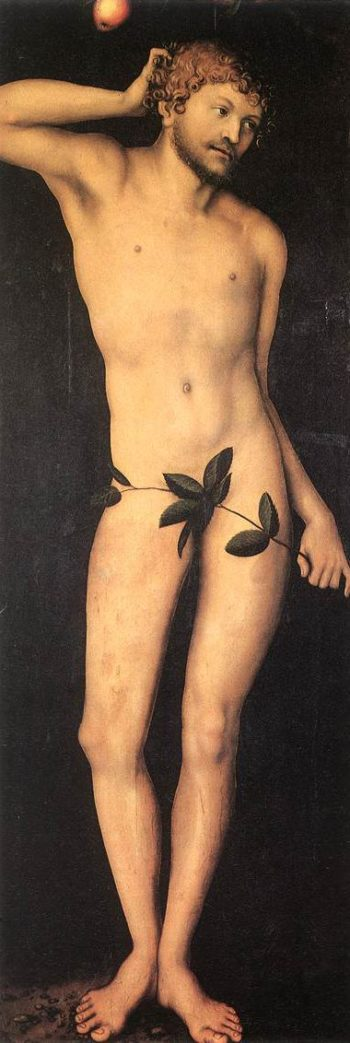 Adam and Eve 1528 | Lucas Cranach the Elder | oil painting