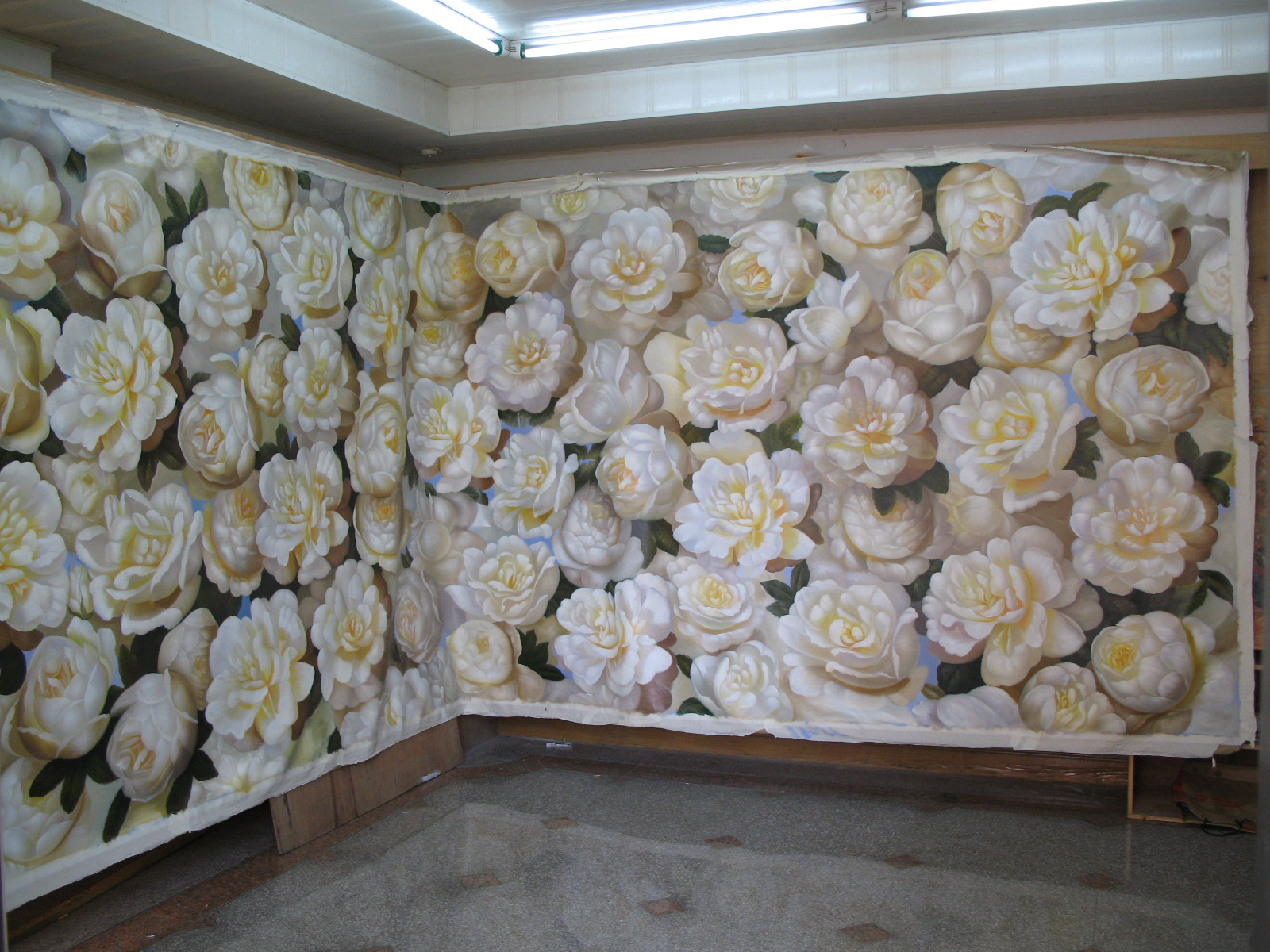 Roses all around the room