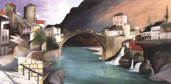 Roman Bridge at Mostar 1903 | Kosztka Tivdar Csontvary | oil painting