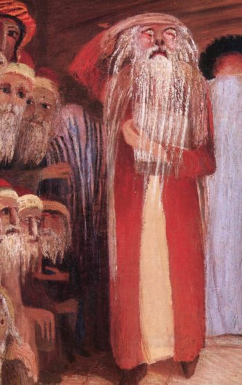 At the Entrance of the Wailing Wall in Jerusalem (detail) 1904 | Kosztka Tivdar Csontvary | oil painting