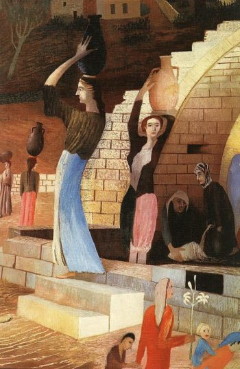 Mary's Well at Nazareth (detail) 1908 2 | Kosztka Tivdar Csontvary | oil painting