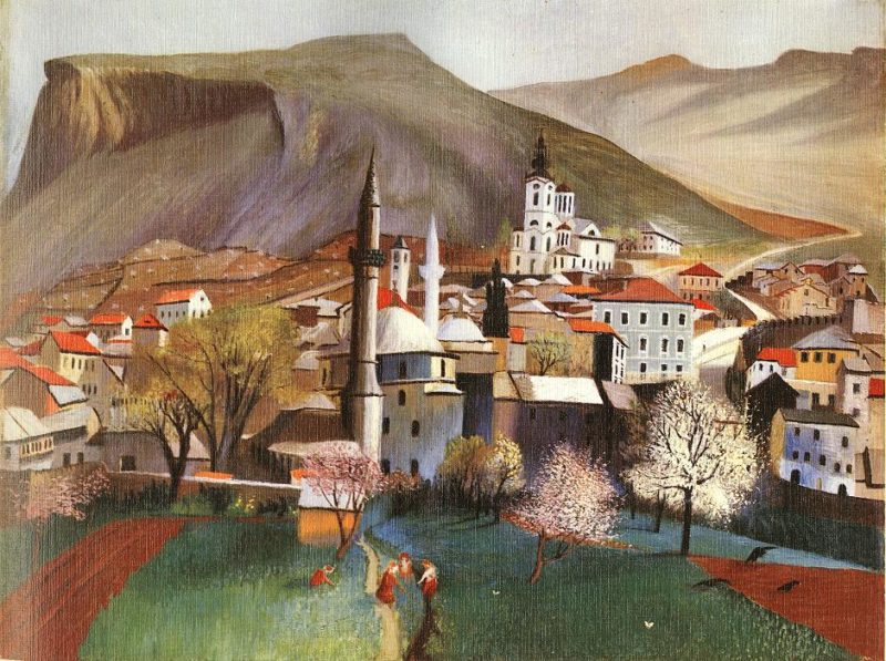 Springtime in Mostar 1903 | Kosztka Tivdar Csontvary | oil painting