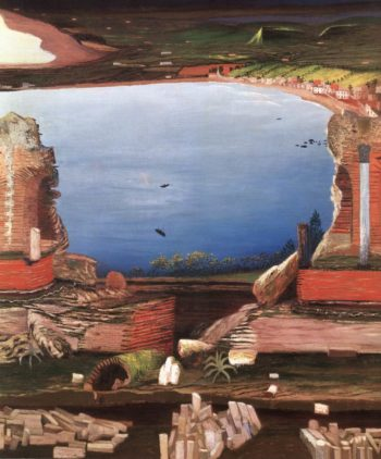 Ruins of the Greek Theatre in Taormina (detail) 1904 05 2 | Kosztka Tivdar Csontvary | oil painting