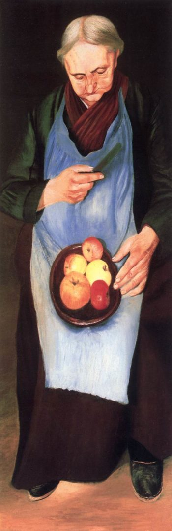 Old Woman Peeliing Apple c 1894 | Kosztka Tivdar Csontvary | oil painting