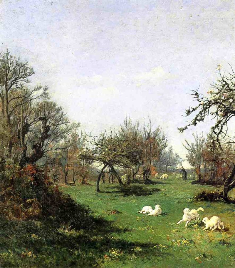 Spring in Pont Aven 1874 | Picknell William Lamb | oil painting
