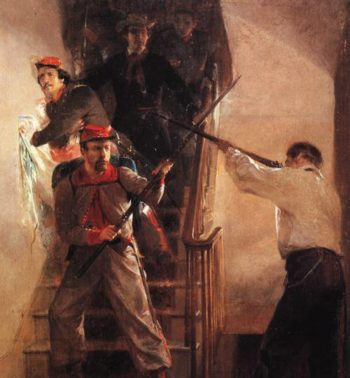 Death Of Ellsworth | Alonzo Chappel | oil painting