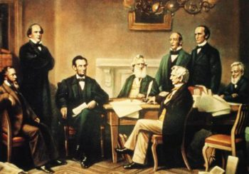 First Reading Of The Emancipation Proclamation Of President Lincoln 1864 | Francis Blcknell Carpenter | oil painting