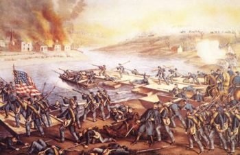 The Battle Of Fredericksburg 1862 | Currier Ives N D | oil painting
