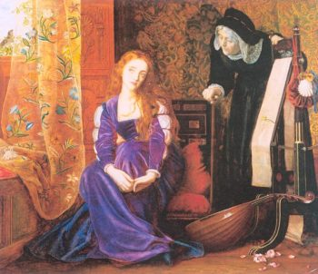The Pained Heart aka Sigh no more ladies sigh no more 1867 1872 | Arthur Hughes | oil painting