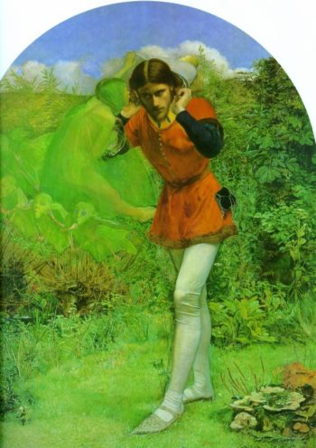 Ferdinand and Ariel 1849 1850 | Arthur Hughes | oil painting