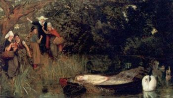 The Lady of Shalott 1872 1873 | Arthur Hughes | oil painting