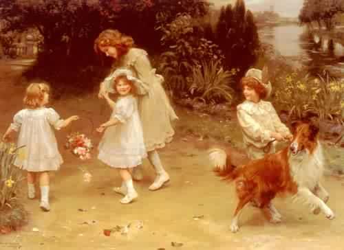 Love At First Sight | Arthur John Elsley | oil painting