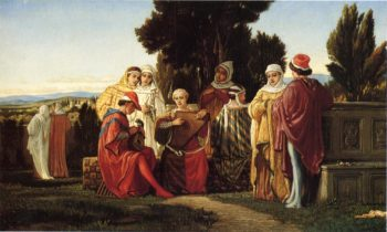 The Music Party 1871 | Elihu Vedder | oil painting