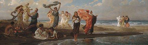 Greek Girls Bathing 1872 1877 | Elihu Vedder | oil painting