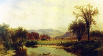 Boquet River Elizabethtown NY 1868 | George Henry Smillie | oil painting
