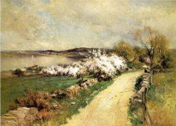 New England Landscape in Spring 1898 | George Henry Smillie | oil painting