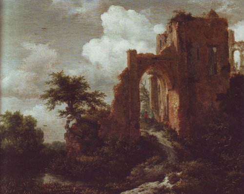A ruined entrance gate of brederode castle | Jacob Van Ruisdael | oil painting