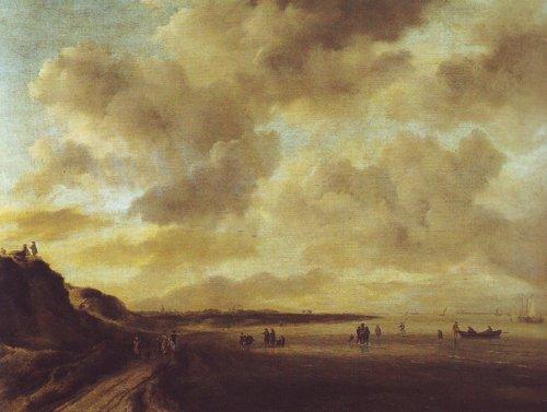 Beachscape with dunes   Jacob Van Ruisdael   oil painting