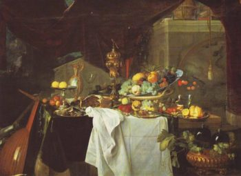 A Dessert | Jan Davidz De Heem | oil painting